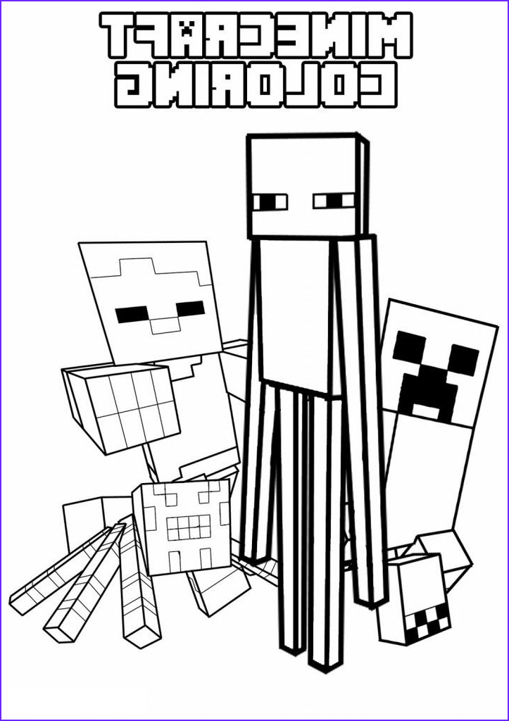Minecraft Coloring Page Creeper Elegant Photos Creeper Enderman Spider and Villager Mob Pictures to
