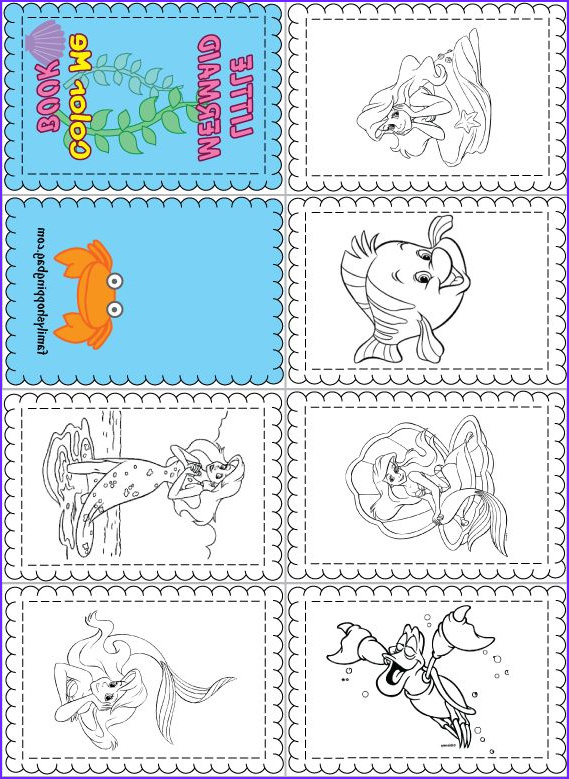Mini Coloring Book Printable Beautiful Photos 18 Best Images About Little Mermaid Printables On