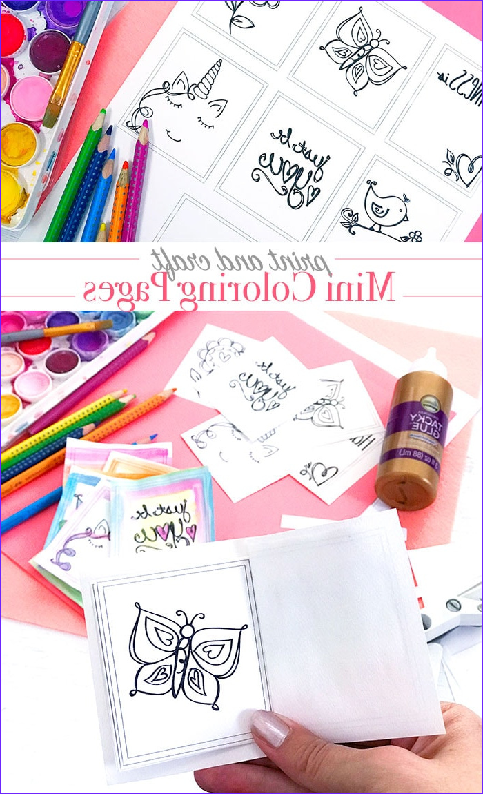 print and color mini coloring pages
