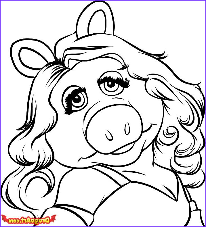 Miss Piggy Coloring Page Awesome Collection How to Draw Miss Piggy Step by Step Characters Pop