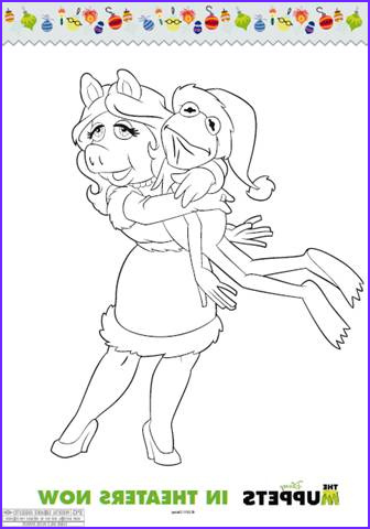 Miss Piggy Coloring Page Beautiful Image the Muppets Holiday Coloring Sheets