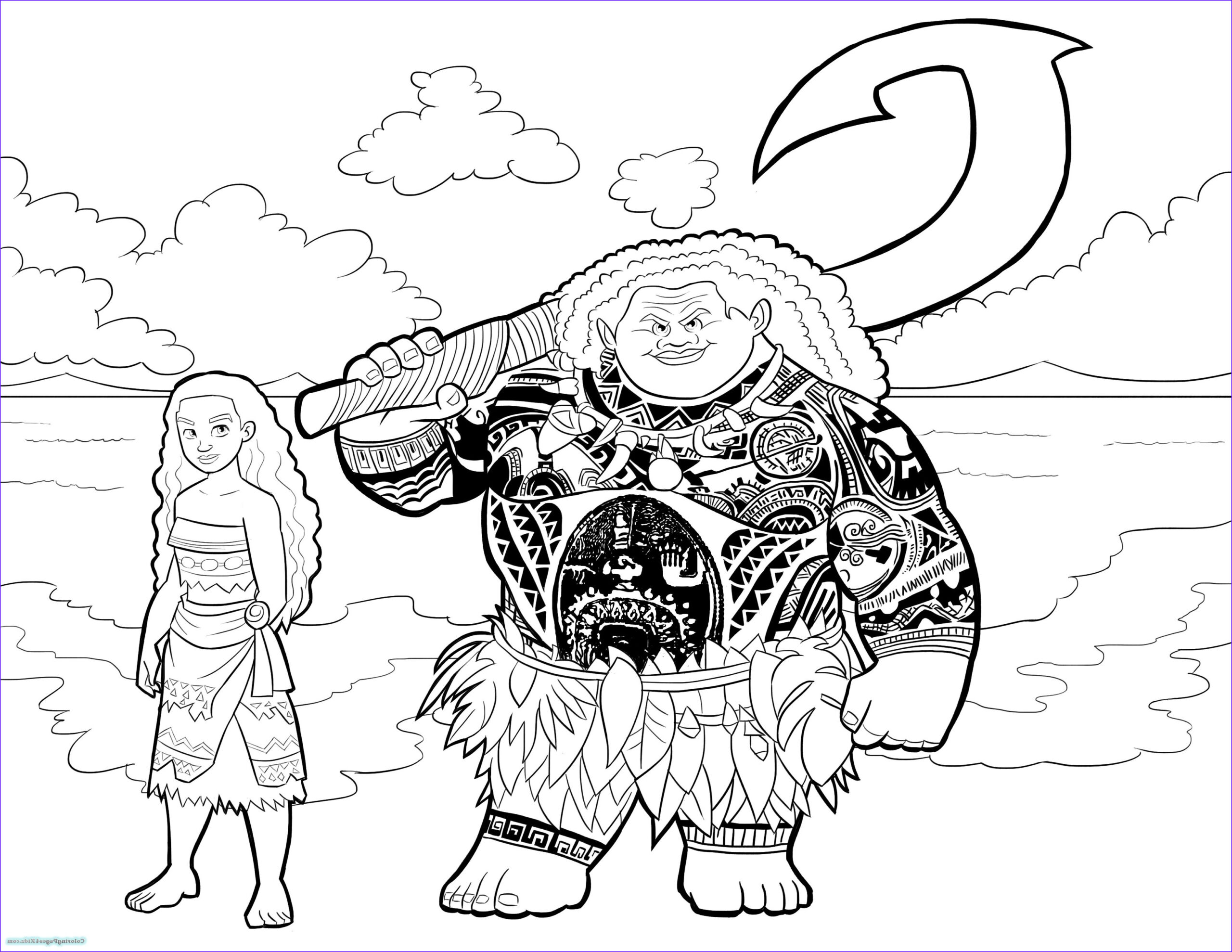 Moana Coloring Page Awesome Photos Addition Moana Coloring Pages