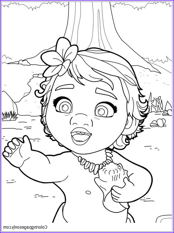Moana Coloring Page Printable Best Of Gallery Baby Moana Princess Coloring Page Free Coloring Pages Line