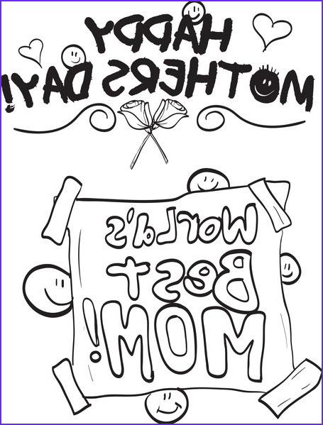 worlds best mom mothers day coloring page a4165
