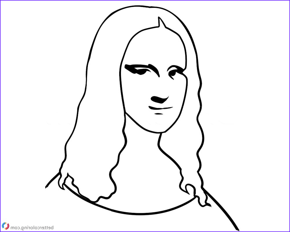 mona lisa coloring pages easy how to draw