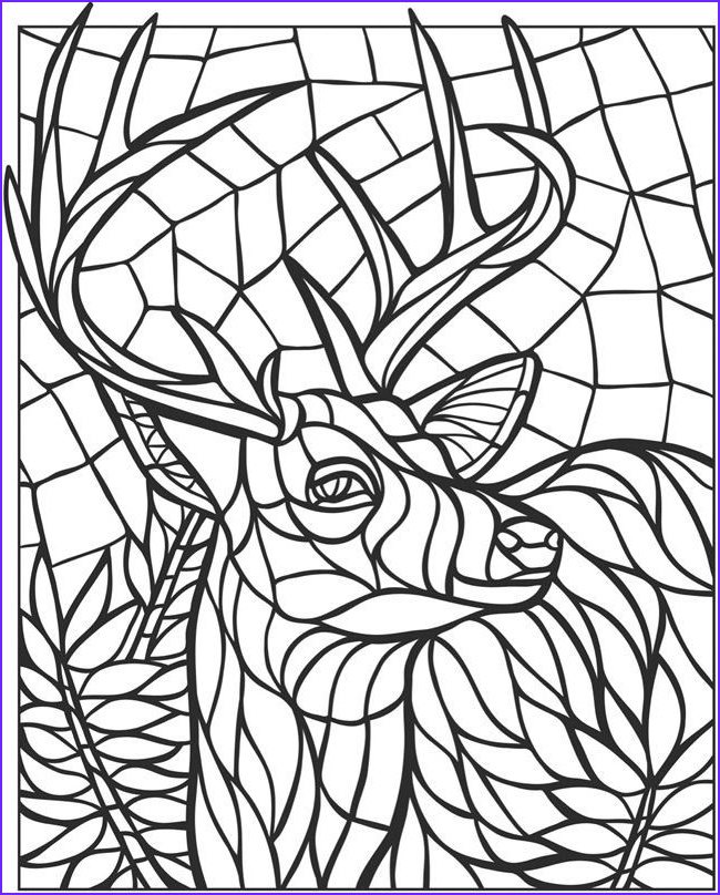 mosaic coloring pages for adults
