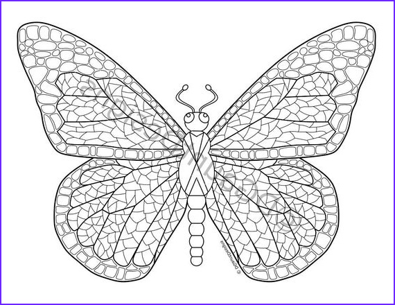 mosaic butterfly digital adult coloring