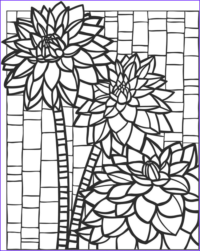Mosaic Coloring Page New Images Wel E to Dover Publications