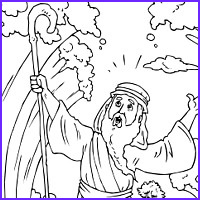 Moses Parts The Red Sea Coloring Page Awesome Stock Parting The Red Sea Passover Fun