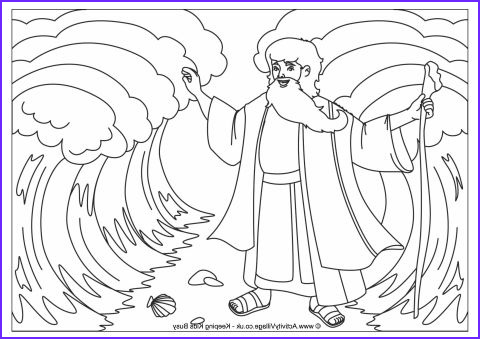 Moses Parts The Red Sea Coloring Page Inspirational Gallery Moses Parting The Red Sea Colouring Page