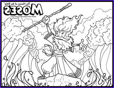 Moses Parts The Red Sea Coloring Page New Photos The Heroes Of The Bible Coloring Pages Moses And The
