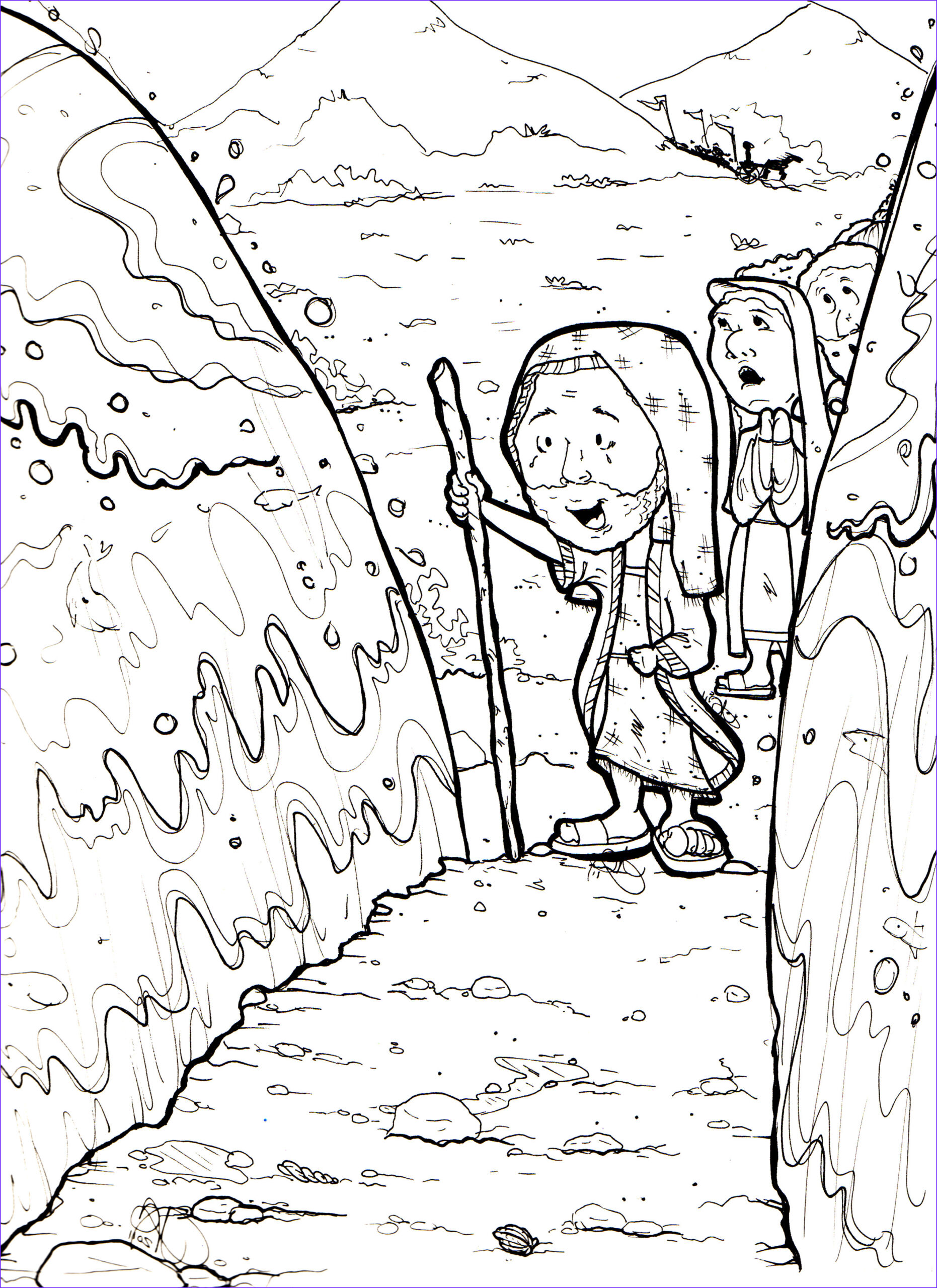 Moses Parts The Red Sea Coloring Page Unique Stock Sabbath Day Moses Coloring Sheet