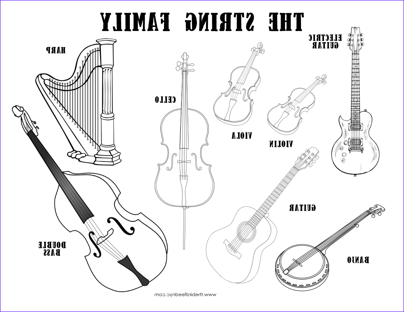 Musical Instrument Coloring Page New Photography