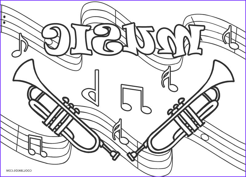 music coloring pages