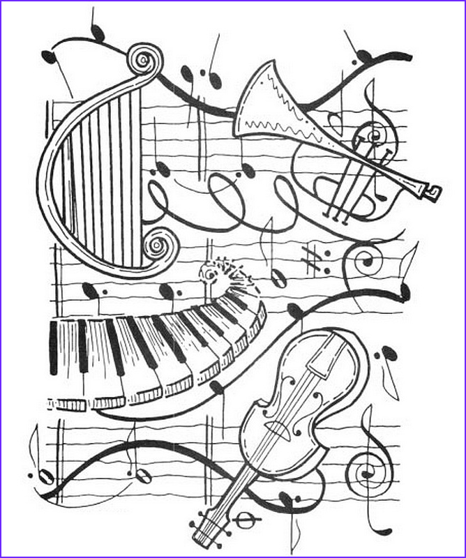 "Musically Coloring Page Elegant Stock 1000 Images About Icolor ""music"" On Pinterest"