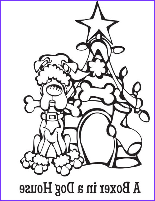 coloring pages 12 dogs of christmas