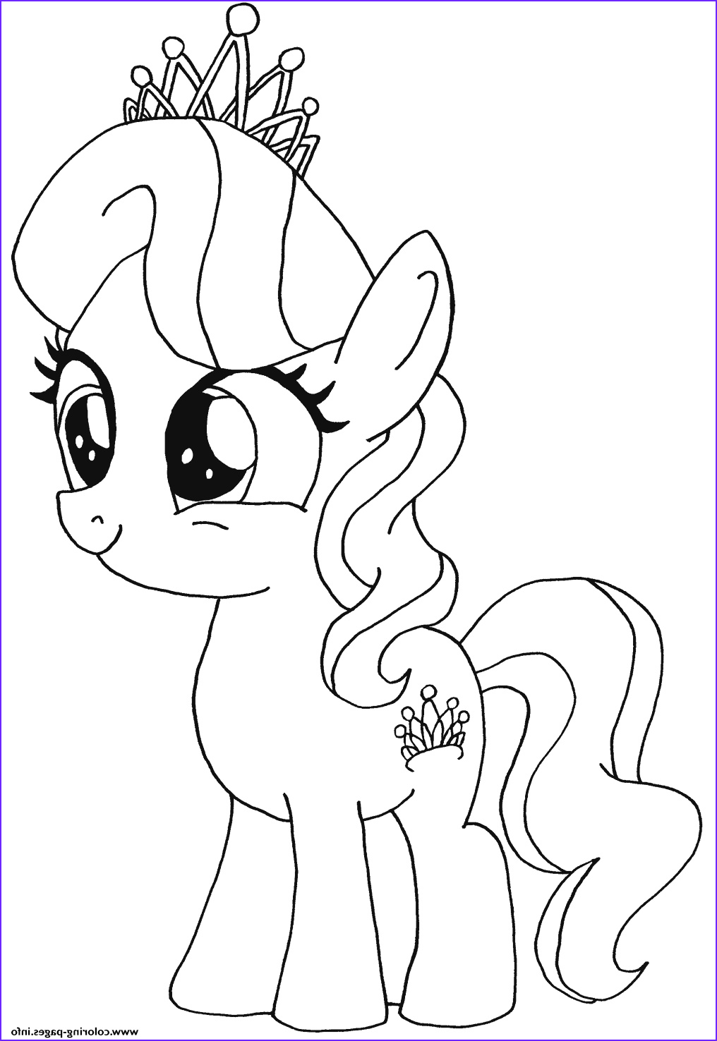 My Lil Pony Coloring Page Beautiful Photos Print Diamond Tiara My Little Pony Coloring Pages