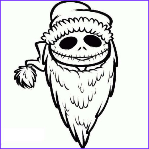 the nightmare before christmas coloring pages to print