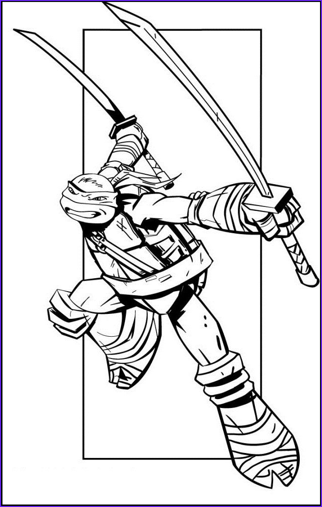 Ninja Turtle Free Coloring Page Unique Photos Leonardo Teenage Mutant Ninja Turtles Coloring Picture For