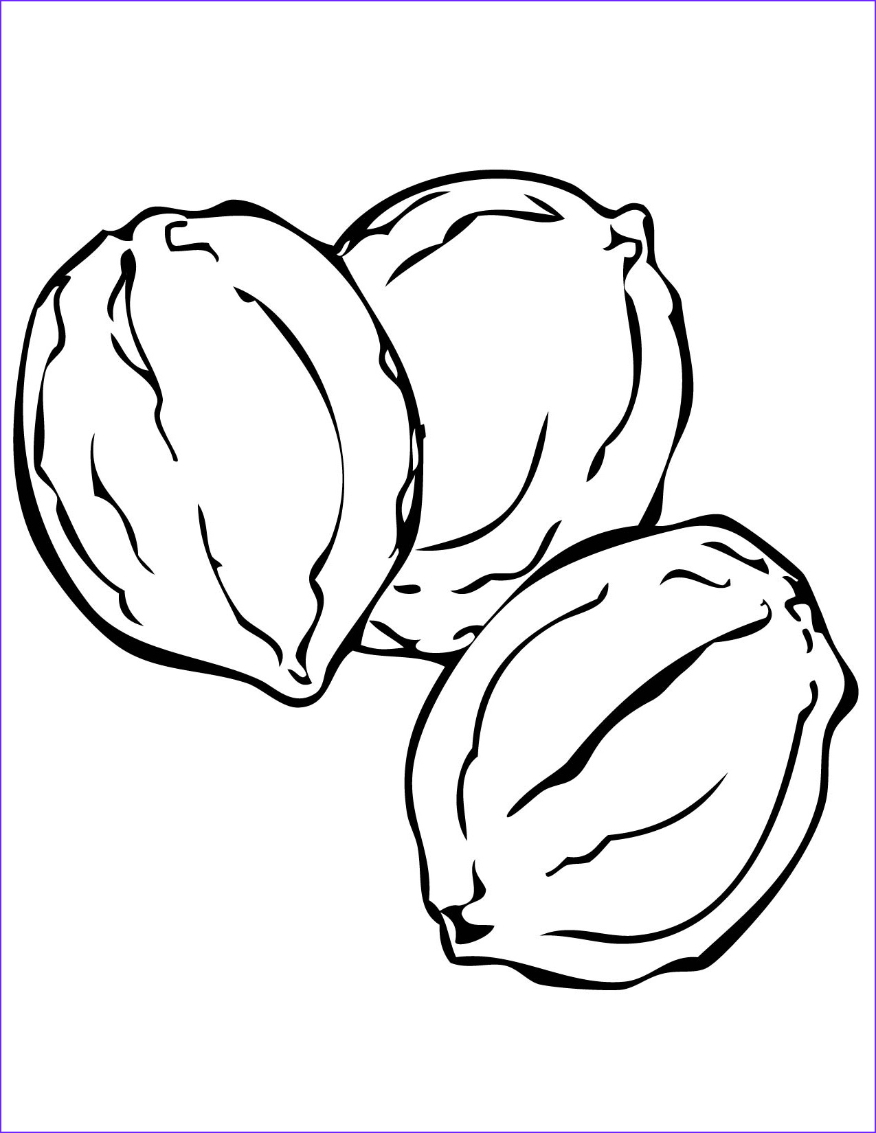 coloring pictures of nuts sketch templates
