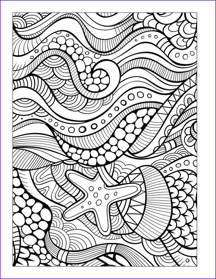 adult colouring under the sea fish mermaids shel