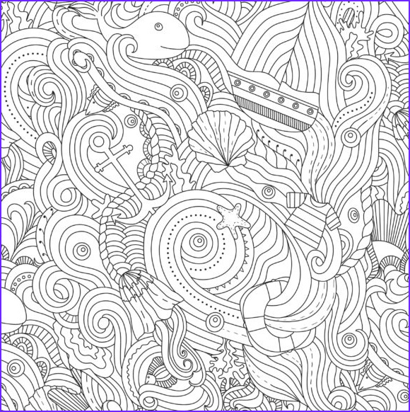 exquisite ocean coloring pages for adults