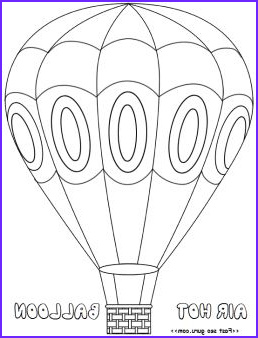 Oh the Places You'll Go Balloon Coloring Page Unique Gallery Hotairballoon Coloring Pages Free Printable for Kids