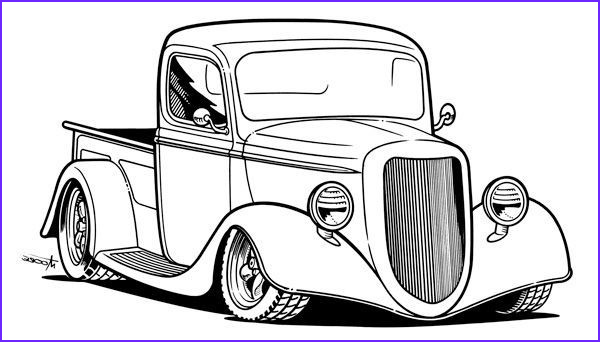 Old Cars Coloring Page Awesome Collection Clipart Old Trucks Google Search