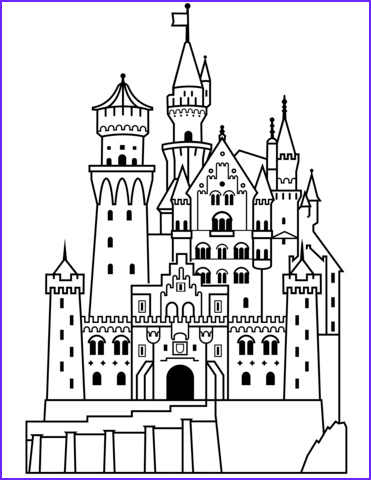 Palace Coloring Page Awesome Collection Neuschwanstein Castle Ausmalbild