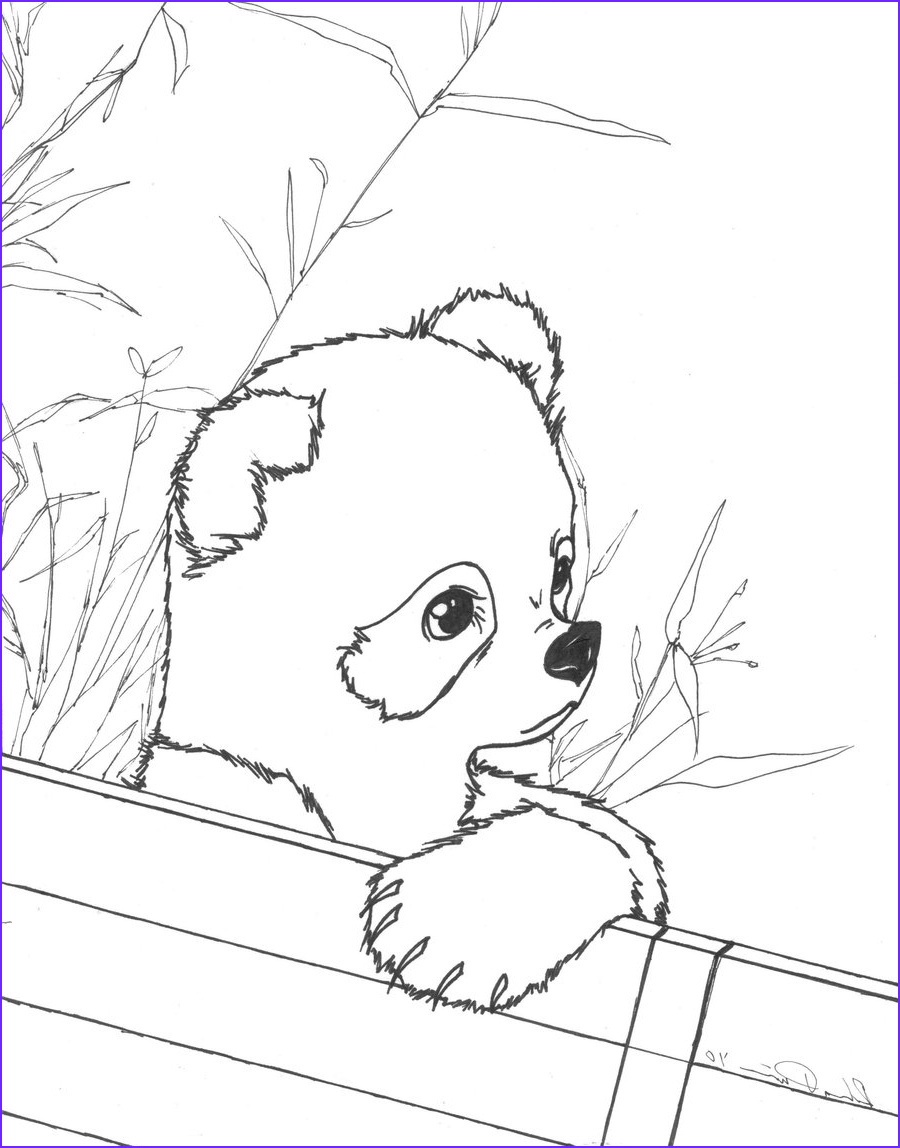 Panda Coloring Page Printable Elegant Gallery Cute Baby Panda Coloring Pages