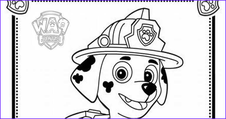 paw patrol colouring pages marshall