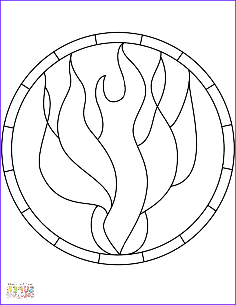 Pentecost Coloring Page Beautiful Images Pentecost Holy Spirit Flame Dove Stained Glass Coloring