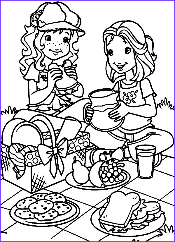 Picnic Coloring Sheet Awesome Image Family Picnic