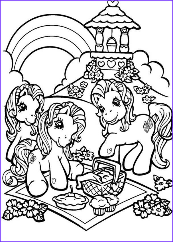 Picnic Coloring Sheet Beautiful Photography Ponies Having A Picnic Coloring Pages Hellokids