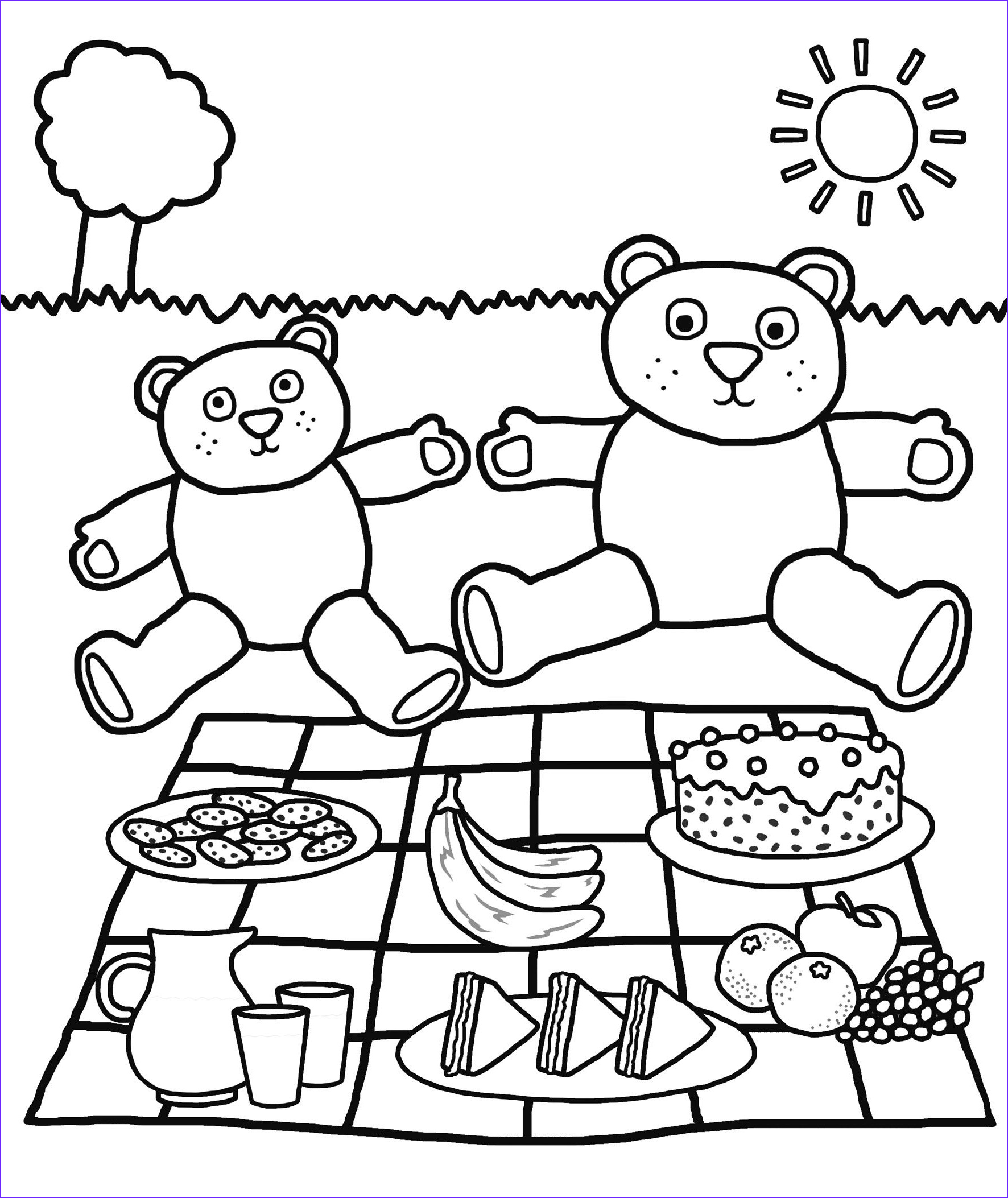 Picnic Coloring Sheet Inspirational Stock July 10 is National Teddy Bear Picnic Day Enjoy This Fun