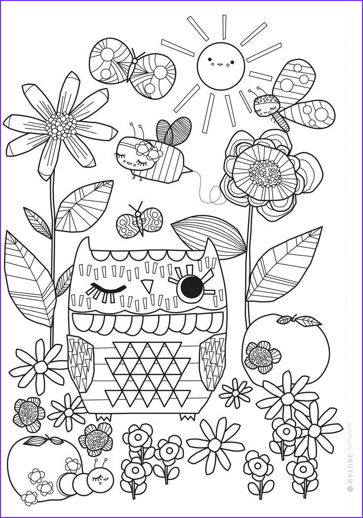Picture for Coloring Beautiful Images Mollie Makes Free Printable Coloring Sheet