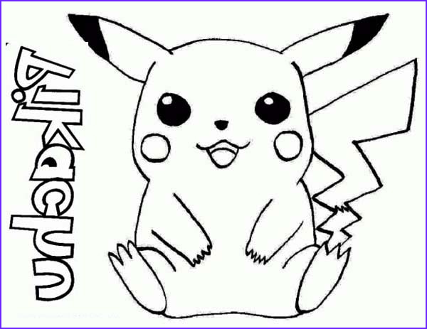 Pikachu Coloring Page Printable Best Of Stock Pikachu Pokemon Drawing at Getdrawings