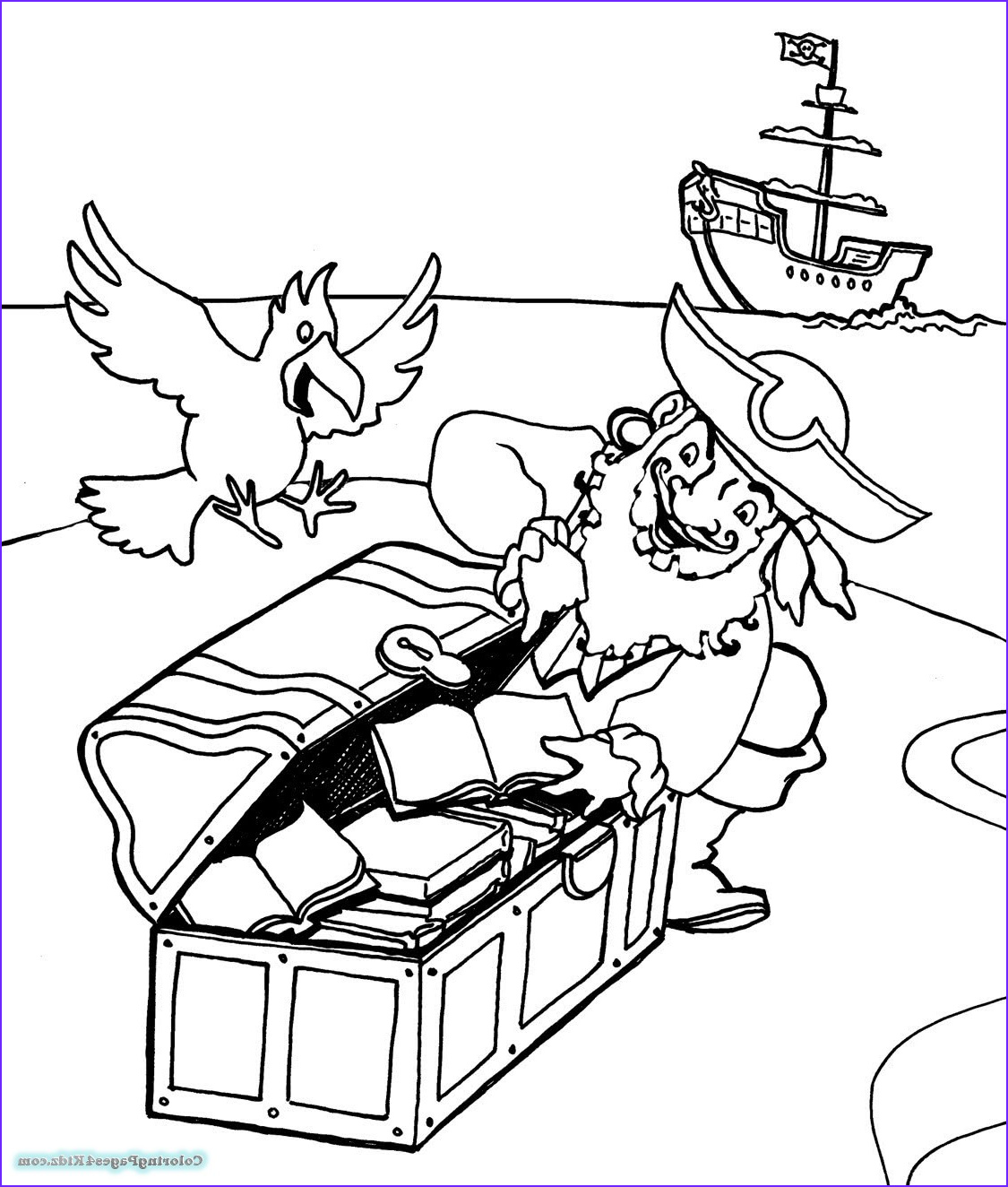 Pirate Coloring Page for Adults Unique Photos Pirate Ship Coloring Pages for Adults