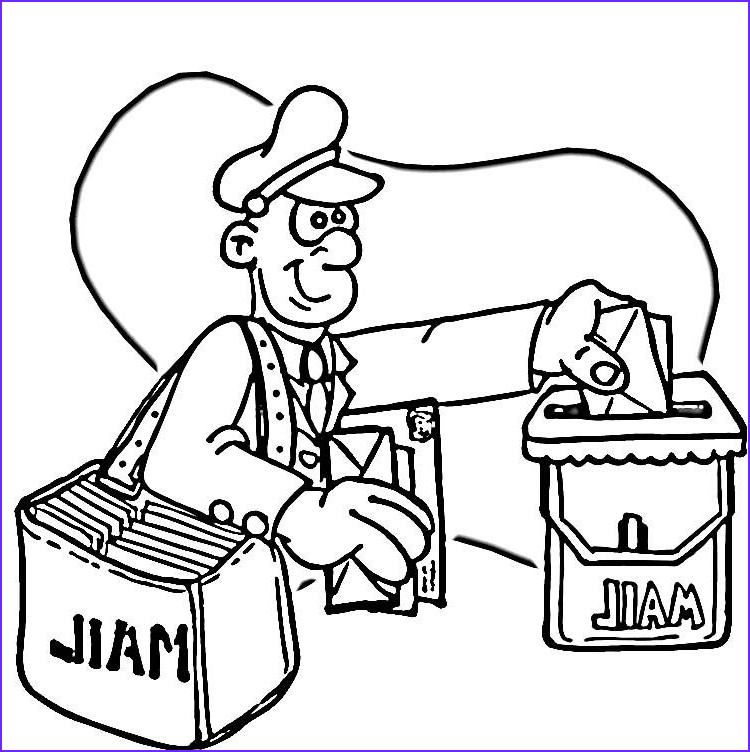 Post Office Coloring Page Awesome Image Post Fice Coloring Pages For Kids