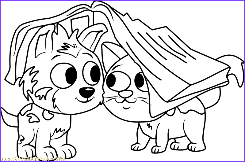 pound puppies bumper coloring page
