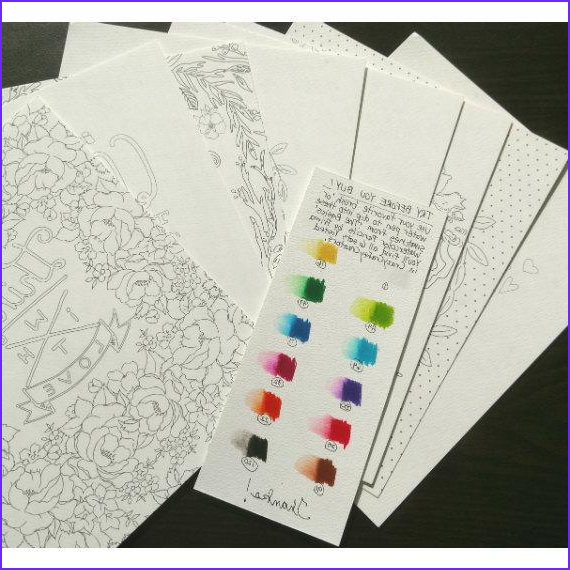 Prima Watercolor Coloring Book Awesome Collection Watercolor Coloring Pages Set 3 Prima Marketing 8 X 10