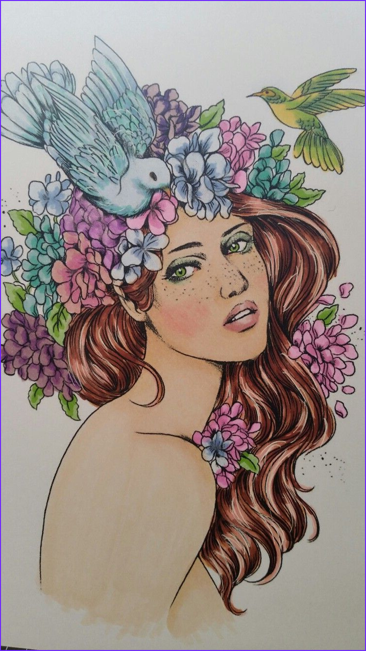 Prima Watercolor Coloring Book Best Of Gallery Claire Coloured with Copics by Me Aylene