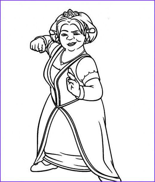 Princess Fiona Coloring Page Cool Photos Princess Fiona From Shrek Coloring Pages