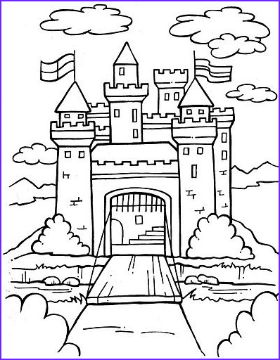 Printable Castle Coloring Page Beautiful Photos Downloadable Coloring Page Perfect Activity for before