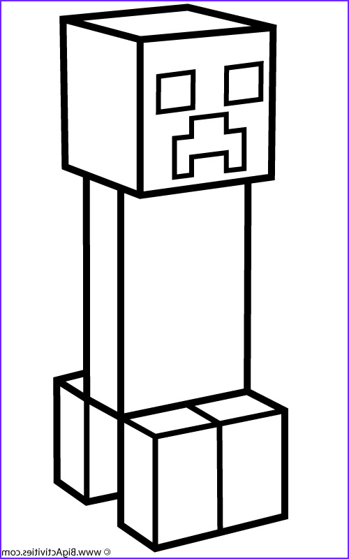 Printable Coloring Page Minecraft Inspirational Stock Minecraft Creeper Coloring Pages 01