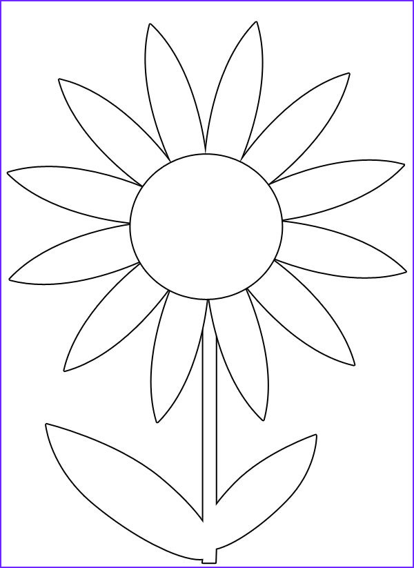 Printable Flower Coloring Page Cool Photos Free Spring Flower Printable Coloring Image