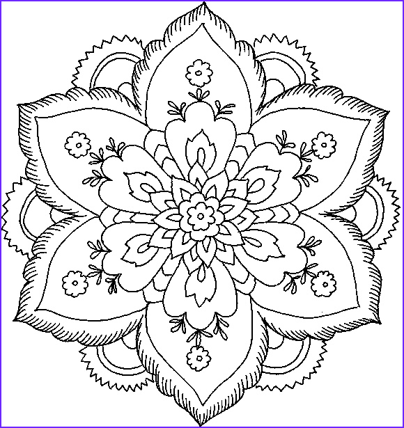 flower coloring pages for print