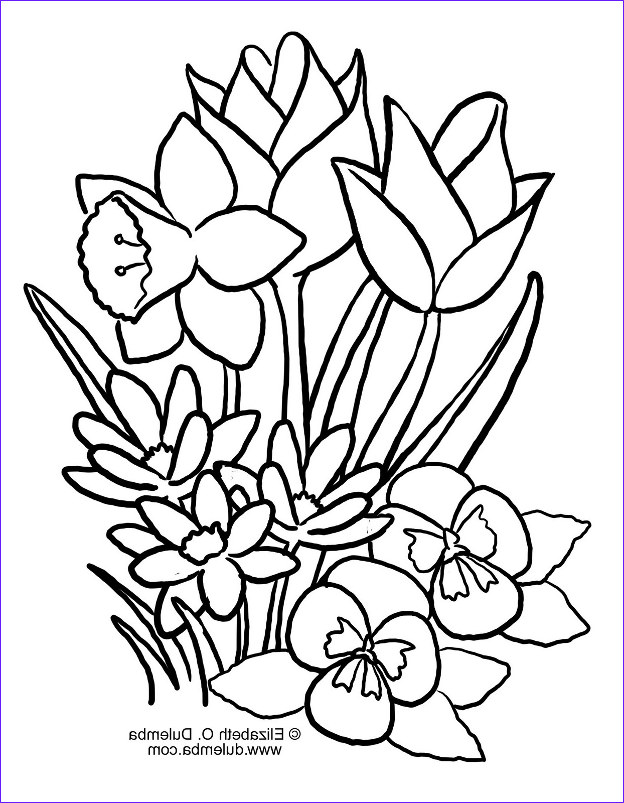 spring coloring pages 2011