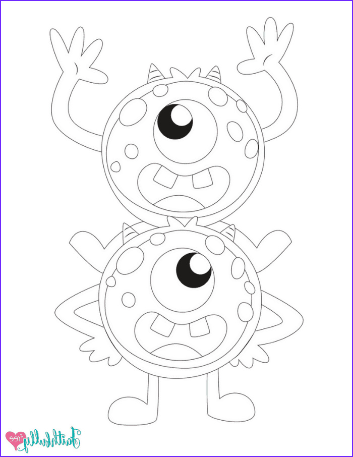 monster coloring pages free printables