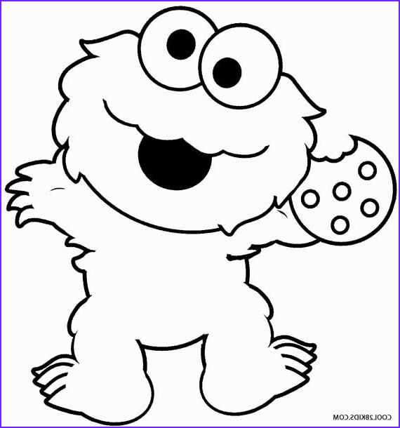 Printable Monster Coloring Page Cool Image Printable Cookie Monster Coloring Pages for Kids